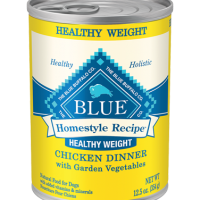 PET FOOD RECALL — Blue Buffalo Homestyle Recipe Healthy Weight, Chicken Dinner with Garden Vegetables, 12.5 ounce can, dog food